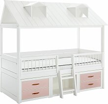 LIFETIME Kojenbett Beachhouse Kinderbett rosa