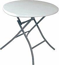 Lifetime Kunststoff Stehtisch, Falttisch, Partytisch 10er Set // 84x74x cm // Höhenverstellbarer Tisch für Partys, Feste und Feiern