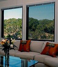 Lifetree Spiegelfolie Sonnenschutzfolie für Fenster Tönungsfolie Selbstklebend Braun-Silber 90×200cm