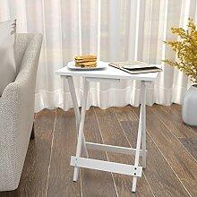 Lifewit Beistelltisch Klapptisch Holztisch
