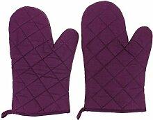 Lifeyz 1 Paar Backen Handschuhe Thick Hitzebeständiges Isolierung Wärme Proof Topflappen Handschuh Baumwolle Ofen handschuh Küche Ofen handschuhe (lila)