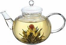 Lifeyz Glas Teekanne Sieb Deckel Hitzebeständig