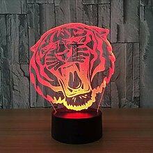 Lifme 3D Led Nachtlichter Tiger Mit 7 Farben Licht