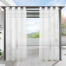 LIFONDER Transparente Pavillon-Vorhänge für den