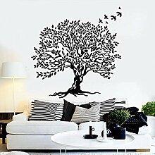 Lift Tree Art Decal Blätter Zweig schöne Vögel