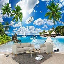 LIGAHUI Kinderzimmer Tapete Meer mit blauem Himmel