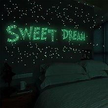 LIGESAY 3D-Sterne Glühen leuchten im Dunkeln