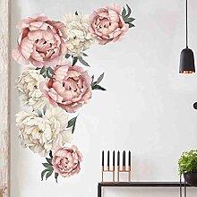 LIGESAY Pfingstrose Rose Blumen Wandaufkleber