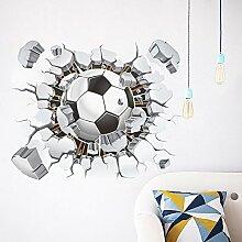 LIGEsayTOY 3D Fußball Fußball Wandaufkleber