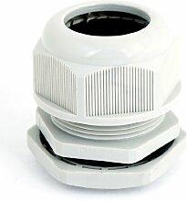 Light Gray Kunststoff Wasserdicht Kabelverschraubung Anschluss SM PG36