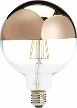 Lighted LED Globo Spiegel Lampe E27, 6W, Gold, Pink, 125x 170mm