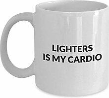 Lighters Mug - Lighters is my cardio - White