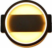 Lightess 20W Wandlampe Schwarz LED Wandleuchte