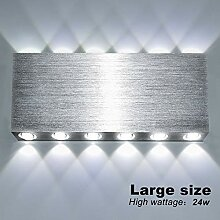 Lightess 24W LED Wandleuchte Innen Up and Down