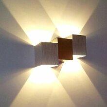 Lightess 6W LED Wandleuchte Innen Modern Wandlampe