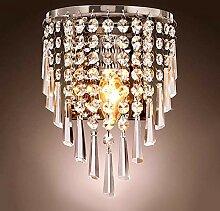 Lightess Kronleuchter Wand Kristall Wandlampe