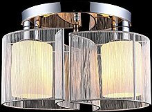 Lightess LED Deckenleuchte Stoff Modern Rund Gross