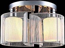 Lightess LED Deckenleuchte Stoff Modern Rund