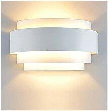 Lightess LED Wandleuchte Weiss Innen Wandlampe
