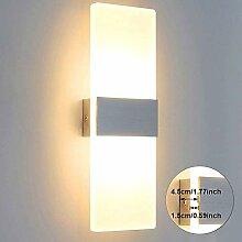 Lightess Wandleuchte LED Innen Modern Weiss