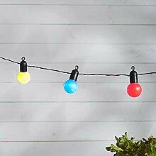 Lights4fun 20er LED Party Lichterkette bunt Innen