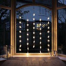 Lights4fun 3X 40er LED Sternen Lichtervorhang