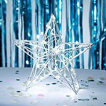 Lights4fun 60er LED Stern Fensterbild Weihnachten