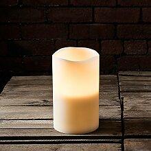 Lights4fun Grande Echtwachs LED Kerze mit 3 LED
