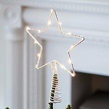 Lights4fun LED Stern Christbaumspitze