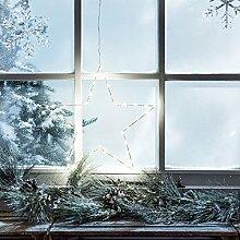 Lights4fun LED Stern Fensterbild Weihnachten