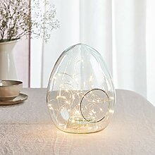 Lights4fun Osterei Glasglocke aus recyceltem Glas