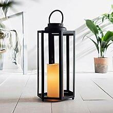 Lights4fun Sechseckige LED Solar Laterne
