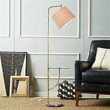 LightSei- Stehlampe Wohnzimmer Kreative Sofa Vertikal Tischlampe Nordic American Modern einfache Stehlampe ( Farbe : Linen Color Shade )