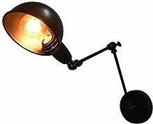 Lightsjoy Industrial Wandlampe Schwenkarm Schwarz