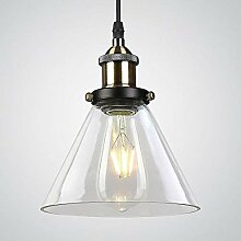 Lightsjoy Pendelleuchte 1-flammig Metall Glas