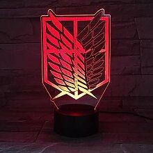 LightsTitan Wings of Liberty 3D LED Lampe