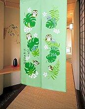 LIGICKY Japanischer Stil Noren Lang Vorhang Tür