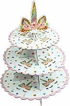 LIGONG 3-stöckiger Cupcake-Ständer aus Pappe mit