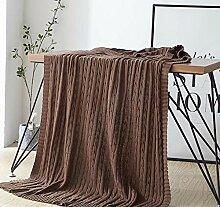 LIGYM Twisted Baumwolle Wolldecke, Sofa Decke