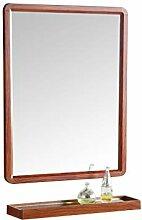 LIHY Schminkspiegel- Badspiegel mit Regal, Spiegel