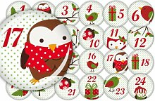 lijelove Buttons, 04-00PX, Advent mit Dotty, bunt,