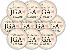"lijelove Buttons, 04-01PF, ""I do"" 10er Set"