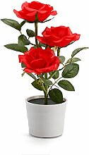 Likecrazy Deko LED Solar Rose Blume Lichter LED