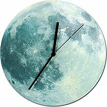 Likeluk 12 Zoll(30cm) 3D Modern Quartz Lautlos Wanduhr Uhr Uhren Wall Clock ohne Ticken