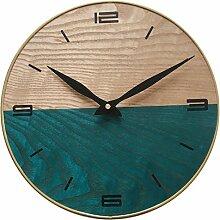 Likeluk Vintage Wanduhr aus Holz mit lautlosem Uhrwerk - 30,5 cm