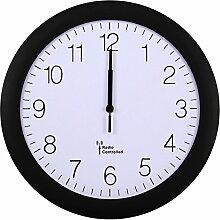 Likeluk Wanduhr Funkuhr Quarz Funkwanduhr Analog Uhr 30cm Zeitumstellung Automatisch