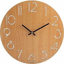 Likeluk Wanduhr Vintage, 12 Zoll(30cm Wanduhr Lautlos Uhr Uhren Wall Clock ohne Tickgeräusche