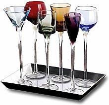 Likörglas-Set in Edelsteinfarben