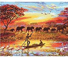 Likuan Bild Elefant DIY malerei by Zahlen
