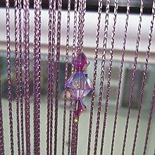 Lila Acrylkristallperlen Vorhang Fenster Türpassage Teiler Partydekor